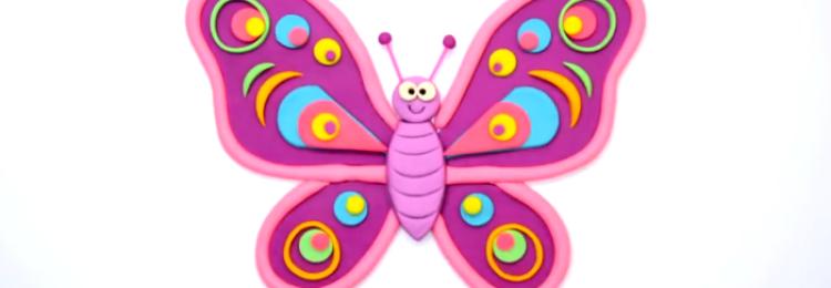 Как делать бабочку из пластилина с ребенком пошагово