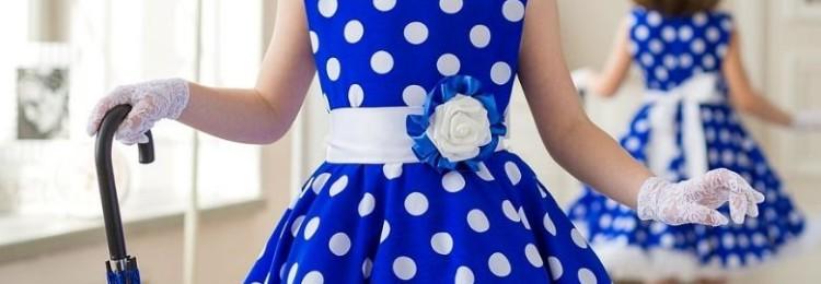 Детские платья в стиле стиляг на выпускной
