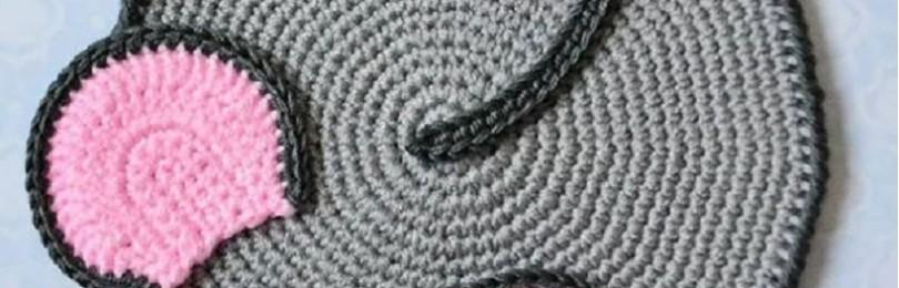 Вязаная прихватка Мышка крючком: схемы и описания