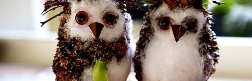 Как сделать сову из еловых шишек: пошаговый мастер-класс