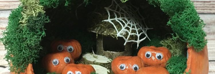 Дом из тыквы: поделка в садик и школу своими руками с фото