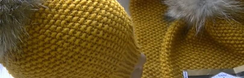 Как связать шапку жемчужным узором спицами для мужчин и женщин