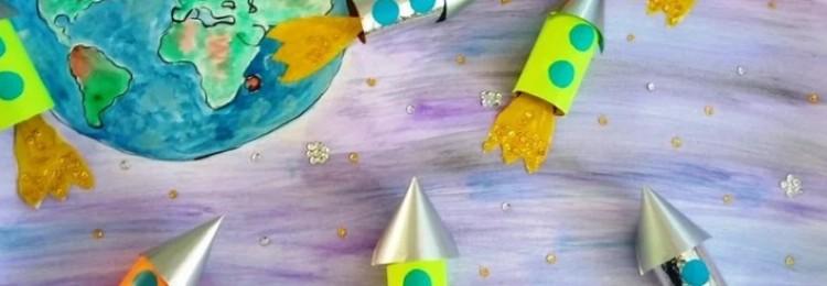 Поделки и аппликации Ракета из цветной бумаги: шаблоны, макеты, трафареты, схемы