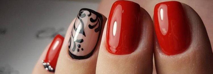 Красные короткие ногти
