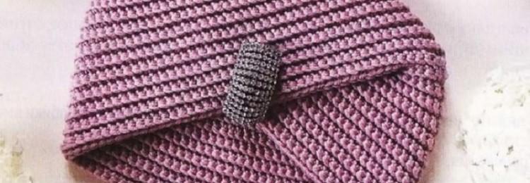 Повязка чалма крючком: схемы, мастер-классы