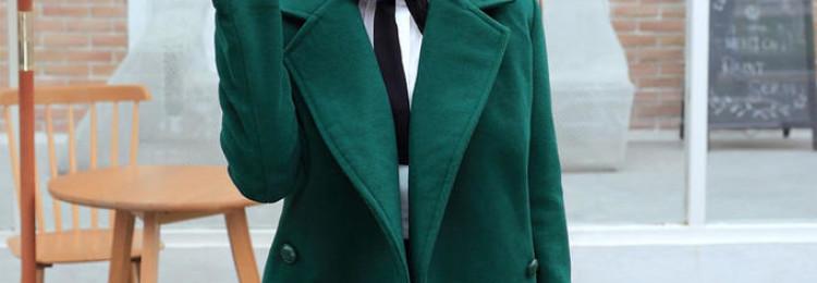 С чем носить зимние и демисезонные зеленые пальто
