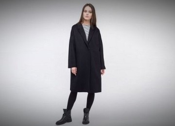 Черное пальто: с чем носить, фото