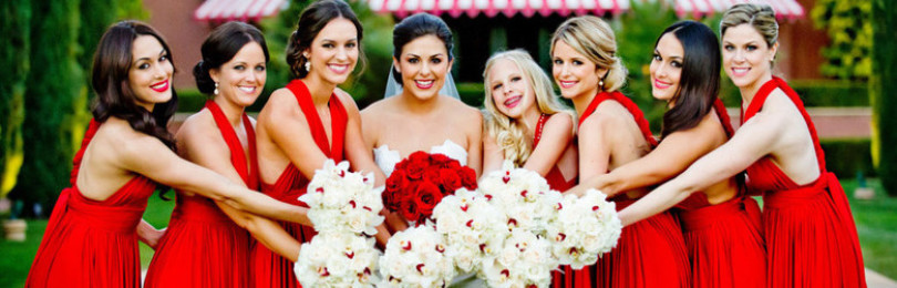 Красное платье на свадьбу к подруге