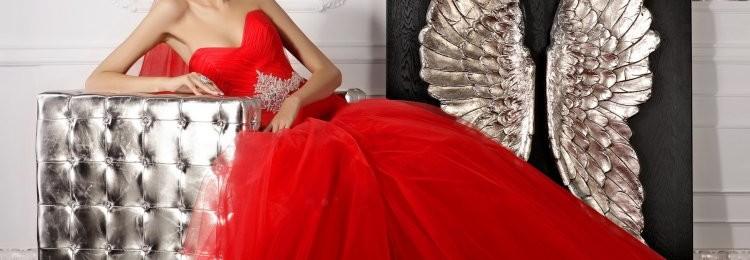 Свадебные платья красного цвета: пышные, со шлейфом, кружевом