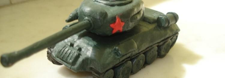 Как сделать танк Т-34 из пластилина