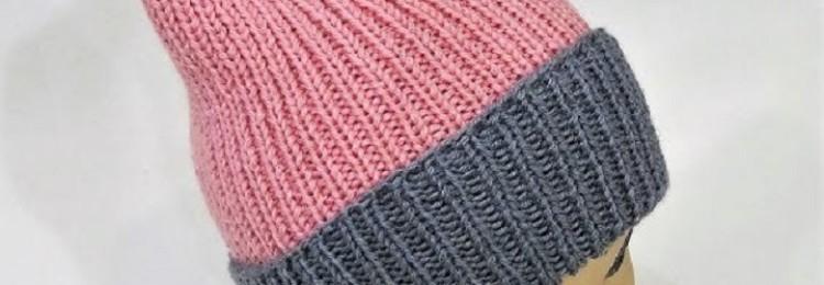 Шапка-лопатка спицами: МК, схемы с описанием