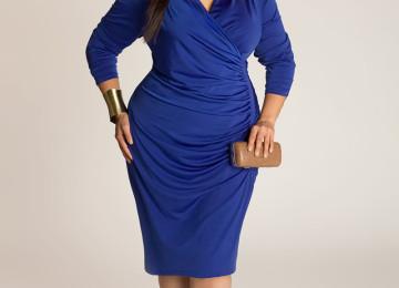 Платье-футляр для полных женщин: фото, чем дополнить