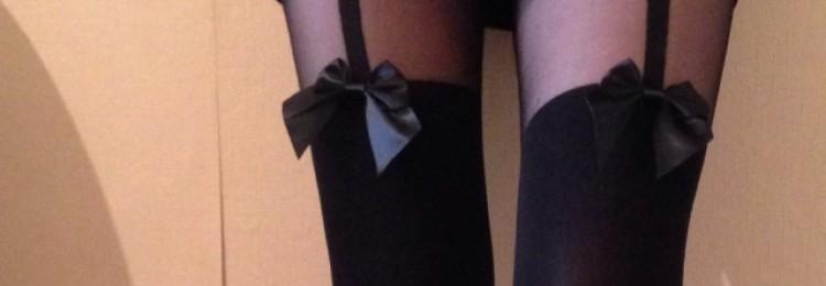 Колготки с имитацией чулок: фото, как носить