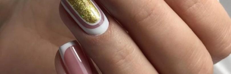 Гель-лак: френч на короткие ногти