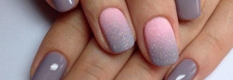 Растяжка блестками и цветом на ногтях – дизайн маникюра
