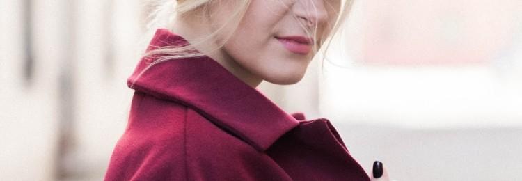 С чем носить пальто цвета марсала (винного)