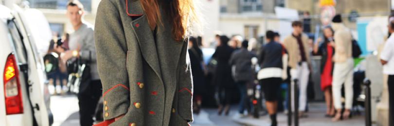 С чем носить пальто цвета хаки