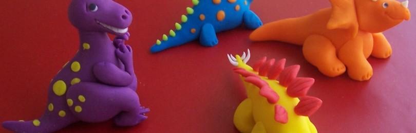 Как сделать динозавра из пластилина своими руками поэтапно с видео