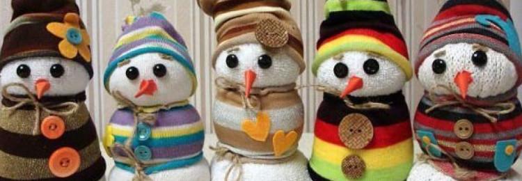 Снеговик из носка своими руками: мастер-класс с фото