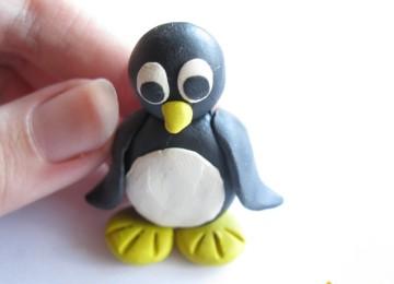 Пингвин из пластилина: пошаговые фото, мастер-классы