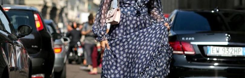 Платья с шифоновыми рукавами: короткие, в пол, миди