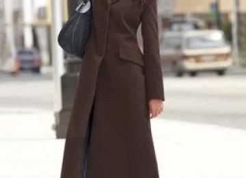 Длинное женское пальто в пол