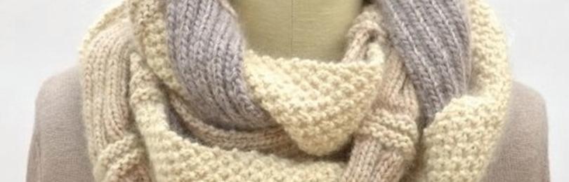 Женские снуды, вязанные спицами: фото для начинающих, как связать