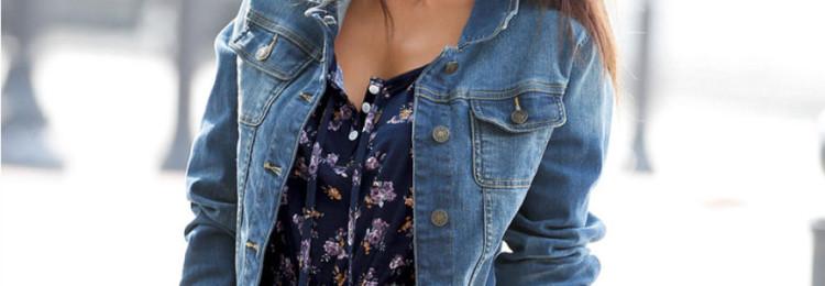 Сарафан с джинсовой курткой
