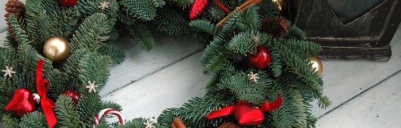 Рождественский венок из веток своими руками: пошаговая инструкция