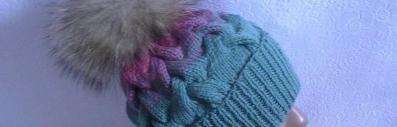 Шапка узором «Королевская коса» спицами: описание, схемы