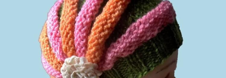 Шапка-зефирка спицами: мастер-класс по вязанию для мальчиков и девочек