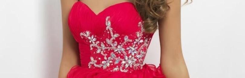 Красные платья на выпускной