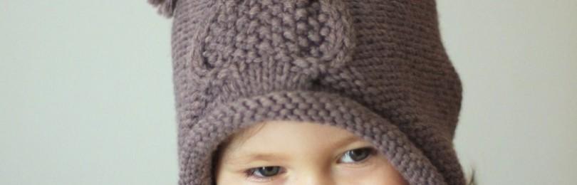 Шапка-сова спицами для девочки и мальчика: описание, схемы