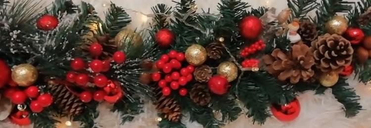 Гирлянды на Новый год: из бумаги, еловых веток и подручных материалов