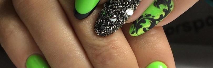 Яркие ногти: идеи, фото дизайна