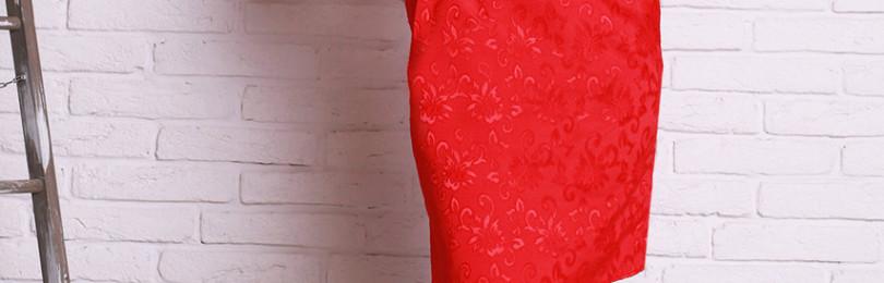 Жаккардовое платье: трапеция, прямое, А-силуэта, с запахом