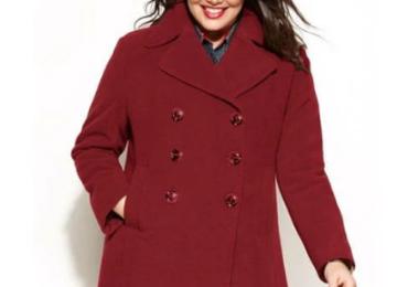 Женские стильные пальто больших размеров