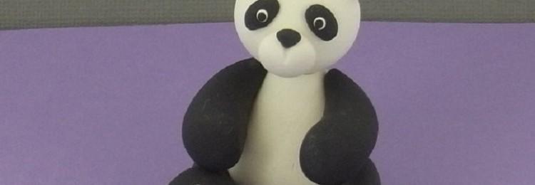 Как сделать панду из пластилина поэтапно