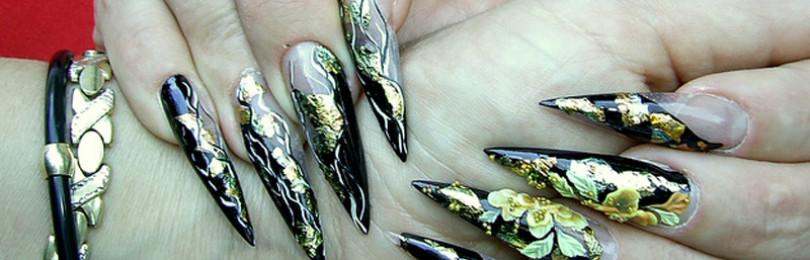 Дизайн ногтей пики