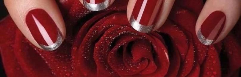 Красный маникюр с серебром: фото, дизайн