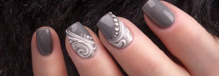 Серый дизайн ногтей: фото, идеи дизайна