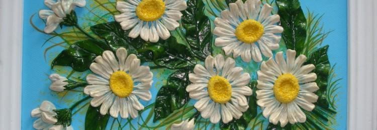 Цветы из соленого теста для детей: пошаговые мастер-классы