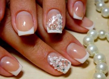 Свадебный маникюр на короткие ногти: фото и идеи