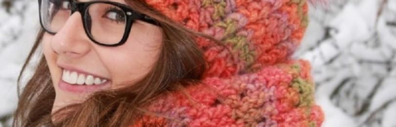 Вязание шапки для женщины на зиму крючком: описания и схемы