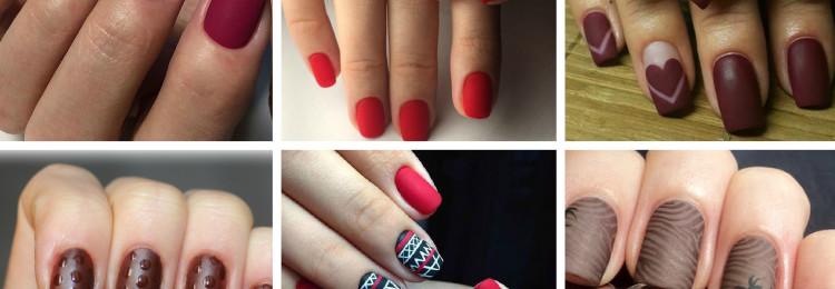 Матовый маникюр фото на короткие ногти