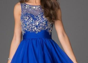 Синее платье на выпускной в 9 и 11 классе