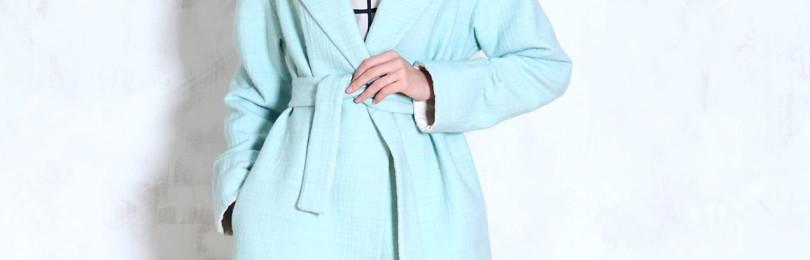 Короткое и длинное пальто-халат: как носить