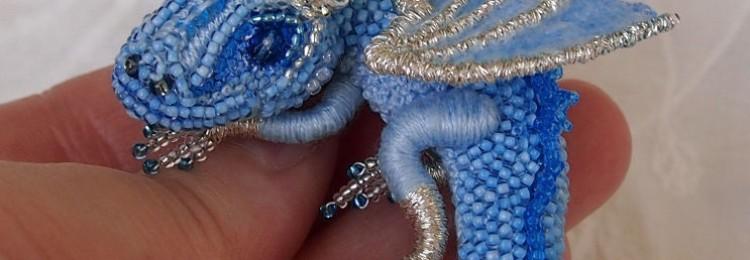Объемный дракон из бисера: схемы плетения с фото