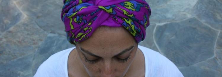 Как завязать чалму из шарфа на голове женщине