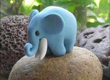 Слон из пластилина для детей поэтапно